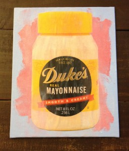 Of course we made mayo art.