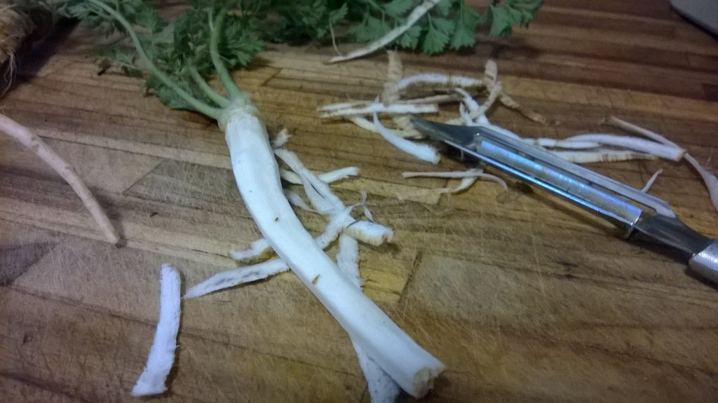 Peeled Wild Carrot