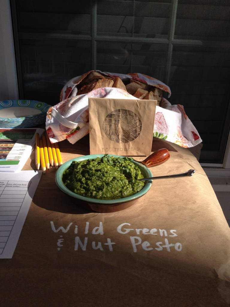 Wild Greens and Nuts Pesto