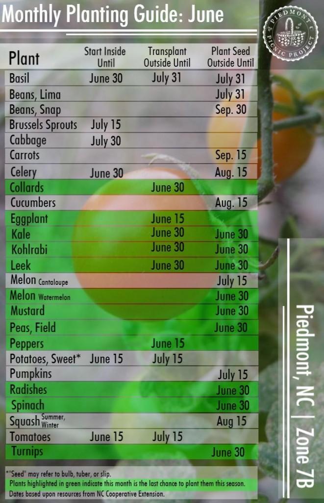June Planting Guide