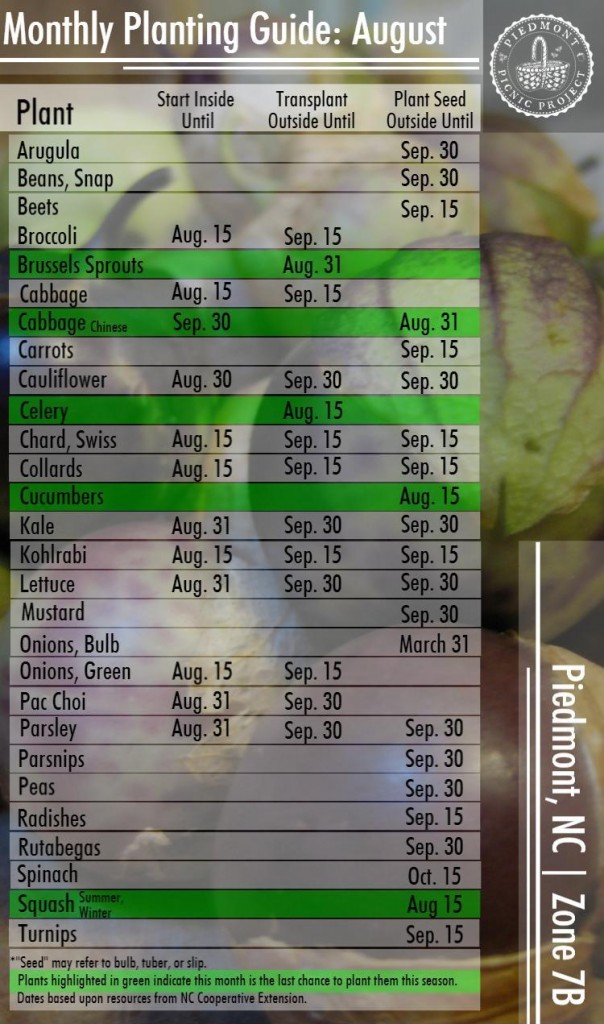 August Planting Guide