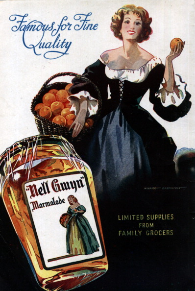 Advert for 'Nell Gwyn' Marmalade, 1943.