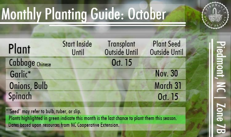 October Planting Guide