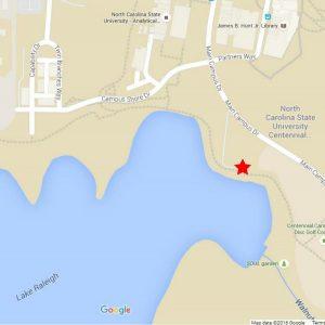 lake raleigh map